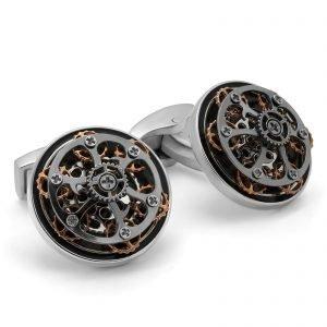 Davide Cotugno Executive Tailors Men's Custom Clothing - Tateossian Mechanical Gear Cufflink