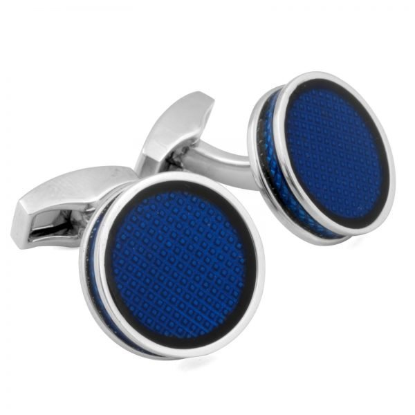 Davide Cotugno Executive Tailors Men's Custom Clothing - Tateossian Blue Enamel Cufflinks