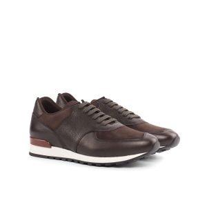 Jogger Sneaker - Kid Suede Dark Brown