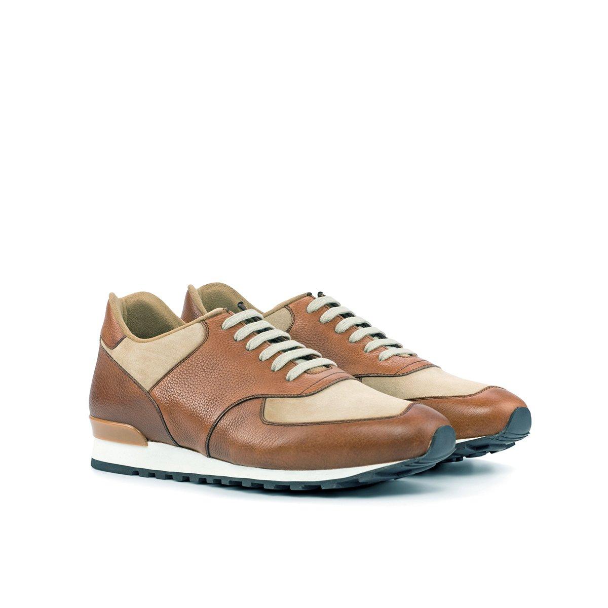 Jogger Sneaker - Kid Suede Taupe Med Brown-Beige