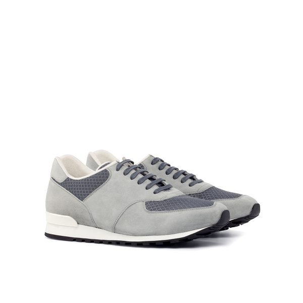 Jogger Sneaker - Mesh Fabric Grey-Kid Suede Light Grey-White Stabilizer
